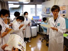 本学附属病院での早期体験実習